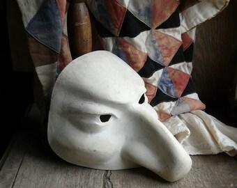 vintage paper mache commedia dell' arte mask sabby chic
