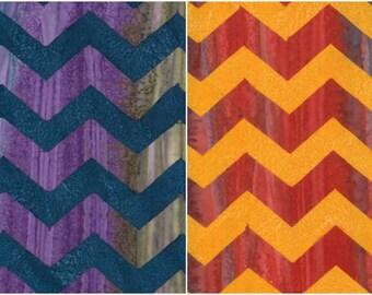 Kaffe Fassett Artisan Batik Fabric - Lightening; Fat Quarter, 1/3 Yard, 1/2 Yard, or By The Yard; Free Spirit Fabrics Chevron Batik; BKKF004
