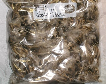 Bag of (2) Gadwall/Gray Duck Hen Feathers For Fly Tying - Mature and Beautiful Feathers