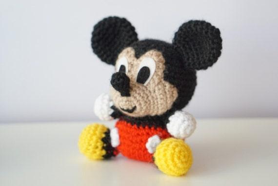 Mickey Mouse Disney Amigurumi Pattern Baby Easy Diy Pdf