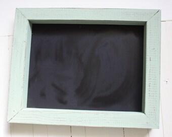 Everyday Framed Chalkboard   Distressed Light Sage Green