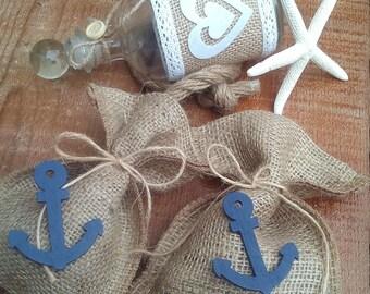 Nautical Favor Bag - Beach Wedding Favour Bag- Rustic Favor Bag - Wedding Favor - Favor Bag - Gift Bag - Beach Wedding - Set of 25