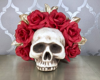 RED and GOLD Rose Crown
