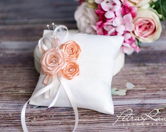 Ring pillow wedding pillow wedding rings ivory Racherla wedding decoration apricot AK5