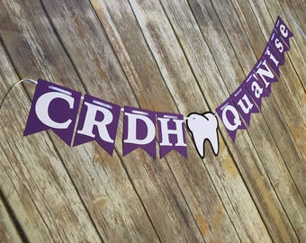 CRDH Graduation, CRDH Banner, CRDH Dentist Banner, Tooth Banner, Dental Hygienist Graduation, Dental Hygiene Banner, crdh Grad, Dental Party