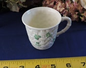 Belleek Fine Parian China Shamrock Gaelic Coffee Cup made in Ireland