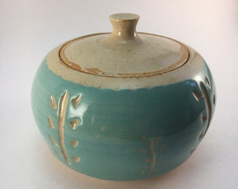 Teal ceramic box