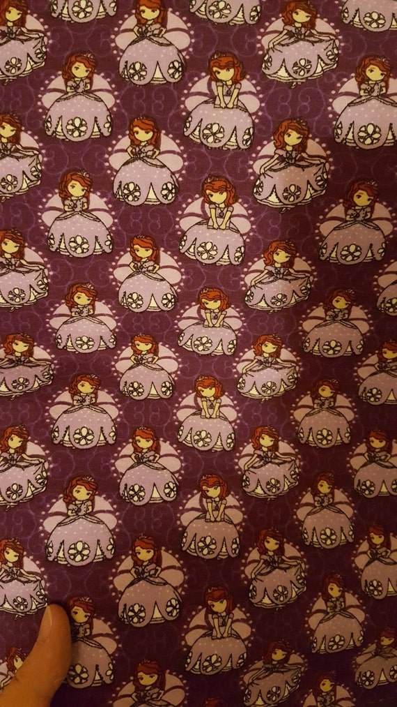 Sofia the First French Terry fabric