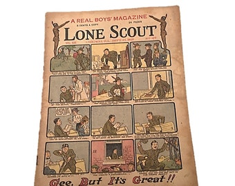 Gee    But It's Great    Lone Scout Newspaper    The Real Boys Magazine September 27 1919
