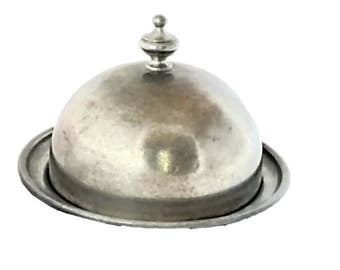 Vintage Pewter Butter Dish |   Early America Web Pewter 1960's Era Dish |  Gift Idea