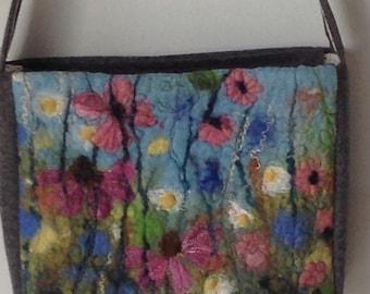 Handmade felt handbag