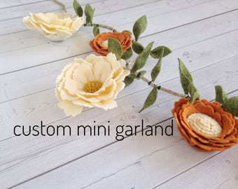 Custom High Chair Garland - High Chair Banner - Felt Flower Garland - Custom Party Garland - Nursery Garland - Felt Garland - Custom Garland
