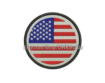 Flag of the United States America Embroidery Design - 5 Sizes - INSTANT DOWNLOAD