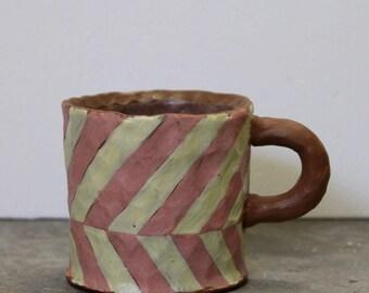 Mug / Stripe Pattern / Espresso Mug