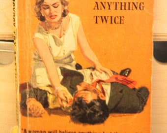 A striking 1950s Pan paperback edition of Peter Cheyney's  classic  story TRY ANYTHING TWICE