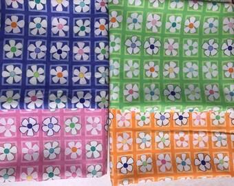 Spring Flower Bundle (4) fat quarters