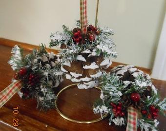 CIJ Christmas In July Pine Cone Ornaments Pinecone Ornaments Country Christmas Handmade Ornaments Pine Cone Decor Rustic Woodland Ornaments