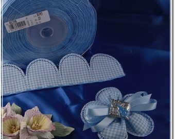 LOT OF 10 pull bow ribbons , confetti flowers, Jordan almonds ribbons, almond favors ribbons DIY favors Flower Pull Bow Ribbon almonds