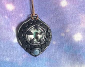 Dragon eye, handmade pendant