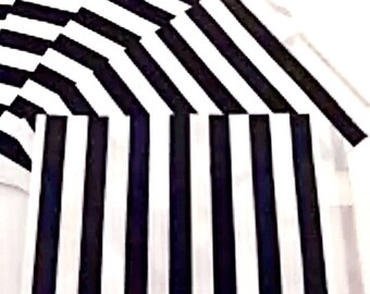 50 Black Stripes Party Favor Paper Bags Treat Gift Candy Bag