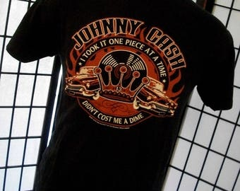Johnny Cash - One Piece at a Time - Zion black concert tee shirt Medium M