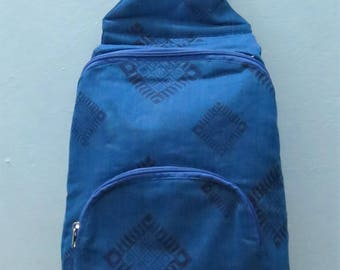 Cotton block printed backpack