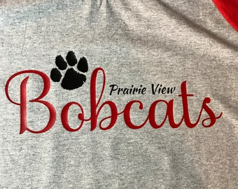 Prairie View Bobcats Spirit Wear Raglan T-Shirt