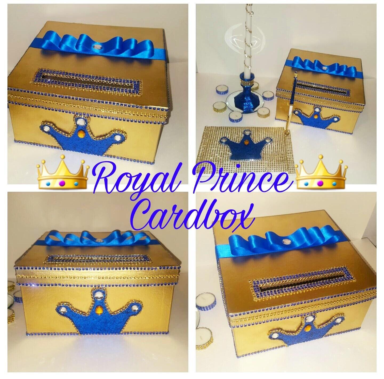 Royal prince card boxgold card boxblue card boxcrown card