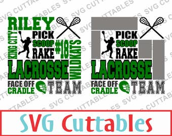 Lacrosse Subway Art SVG, DXF, EPS, Vector, Digital Cut File