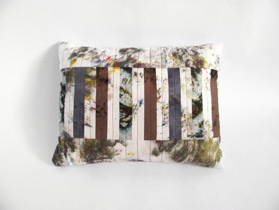 Multi-Stripe Patchwork Pillow