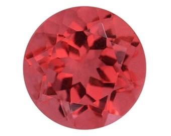 Padparasha Quartz Triplet Round Cut Loose Gemstone 1A Quality 11mm TGW 4.60 cts.
