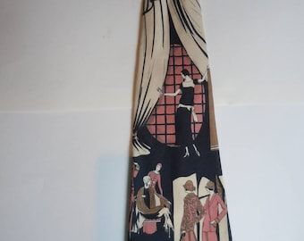 Coolest Early 1970s Tie Ever  -- 1920s Women
