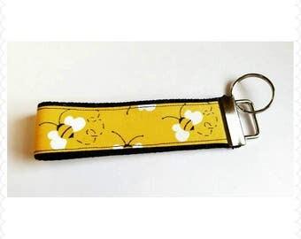 Bumblebee key chain, key fob, key ring