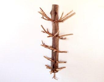 Natural wooden coat rack, Driftwood coat hanger, Handmade coat hanger, Rustic coat rack, Reclaimed wood coat rack, Wooden coat rack