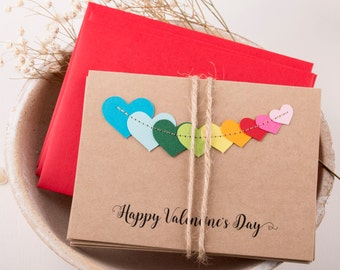 Valentines Card/ Valentines Day Cards/ Happy Valentine Day cards/ Set of 5