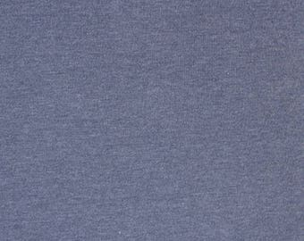 Light Denim Heather Solid Cotton Spandex Knit Fabric, Light Blue Heathered Knit, Jersey Knit