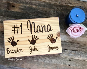 Mothers Day gift, Nana gift, Gift for Nana, Grandparents gift, Nana sign, Custom wood sign, Grandma gift, Gift for Grandma, Custom wood sign