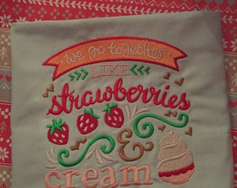 Strawberries & Cream Tea Towel