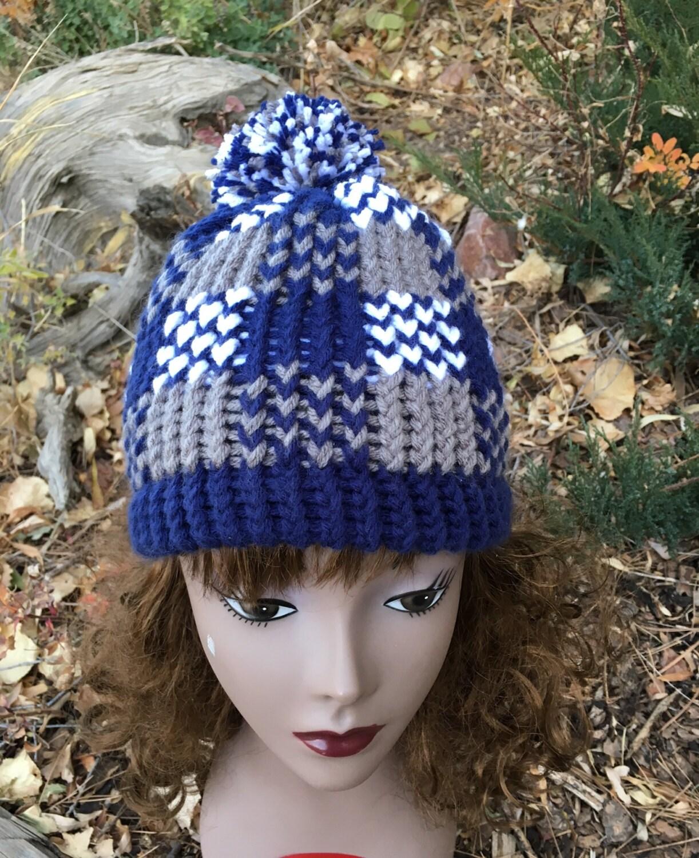 Plaid Hat - a loom knit pattern