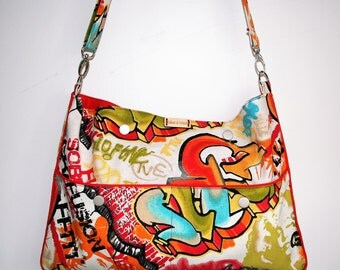 Clearance!!! Graffiti print messenger bag