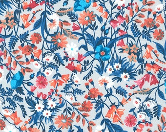London Calling 7, Cotton Lawn Fabric by the Yard, Floral Fabric, Robert Kaufman, Apparel Fabric, Quilt Fabric, Floral Cotton Lawn, L2070005