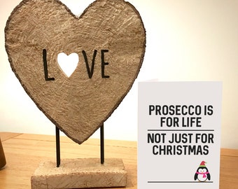 Prosecco Is For Life Not For Christmas Penguin Christmas Card - Friends - Family - Funny - Partner