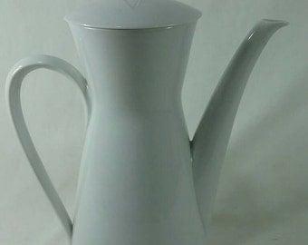 Mid century Rosenthal tea pot vintage white Germany