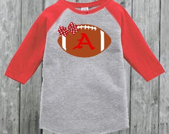 Razorback  Football Raglan for Toddler Girl