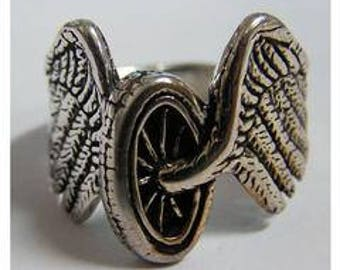 Motorcycle Tire with Wings Ring