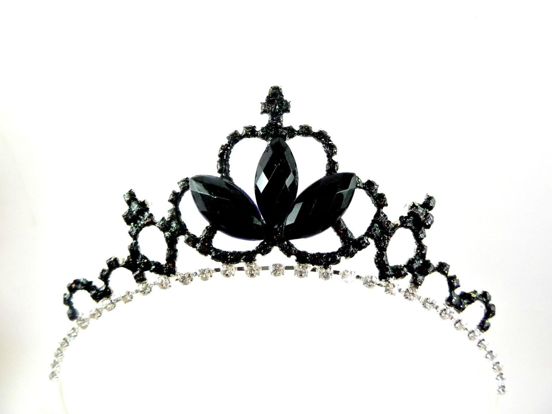 black crown black swan crown tiara gothic fascinator