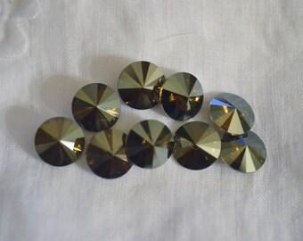 12 ~ Bronze Shade 10mm SWAROVSKI ELEMENTS crystal 1122 ss47 Rivoli
