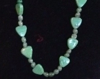Beautiful One of A Kind Green Heart Necklace