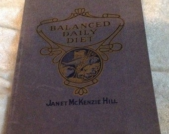 1921 Balanced Daily Diet Cookbook
