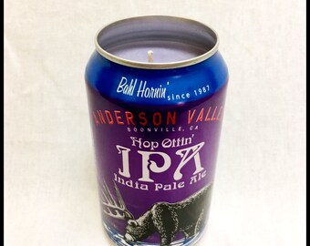 Lavender Scent Beer Can CANdle
